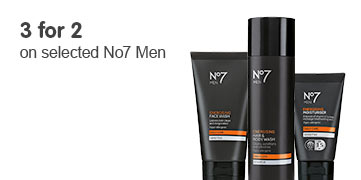 3 for 2 on selected No7 Men