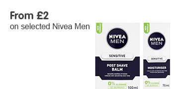 From 2 pound on selected Nivea men