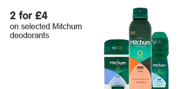 2 for 4 on selected Mitchum deodorants