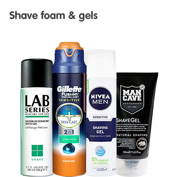 Shave foam and gels
