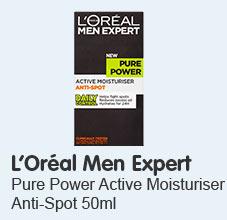 L'Oréal Paris Men Expert Pure Power Active Moisturiser Anti-Spot 50ml