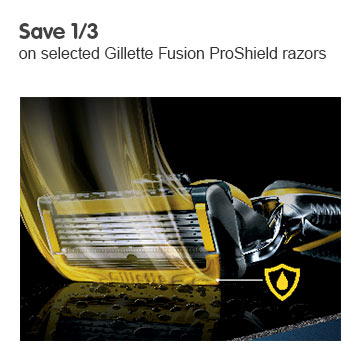 Save a third on selected Gillette ProShield