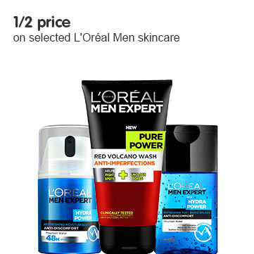 Save up tp half price on selected L'Oreal