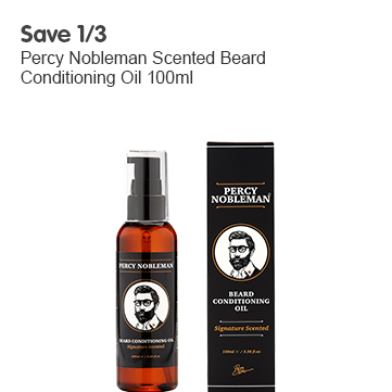 Save 1/3 on percy nobleman beard oil
