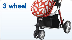 3 wheel pushchairs