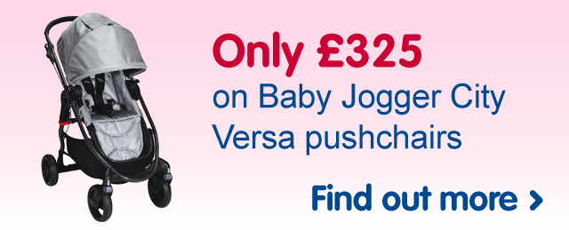 Only £325 on Baby Jogger City Versa pushchairs