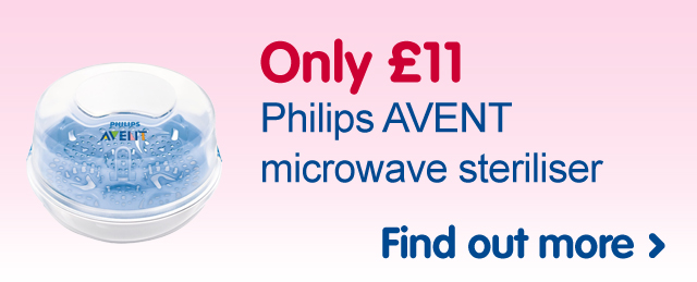 Only £11 Philips AVENT microwave steriliser