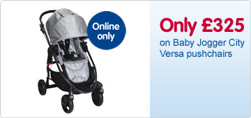 Online only - Only £325 on Baby Jogger City Versa pushchairs
