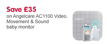 Save £35 on Angelcare AC1100 Video, Movement & Sound baby monitor