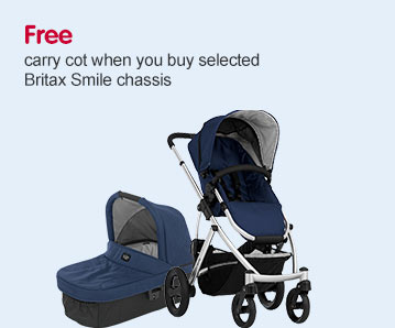 Free Carrycot when you buy selected Britax Smile Chassis
