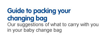 Guide to packing you changing bag