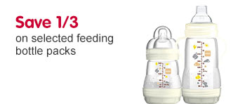 Save 1/3 on selected MAM feeding bottles