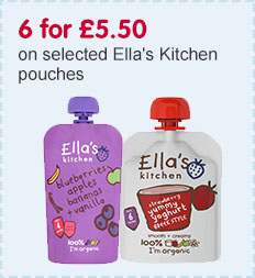 6 for £5.50 on selected Ella's Kitchen pouches