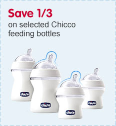 Save a third on selected Chicco feedling bottles