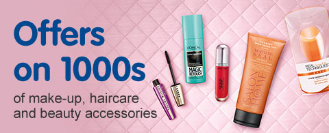 Offers on 1000s of make up, haircare and beauty accessories