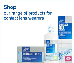 Shop our range of products for contact lens wearers