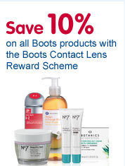 Save 10% on all Boots products with the Boots Contact Lens Reward Scheme
