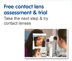 Free contact lens assessment and trial
