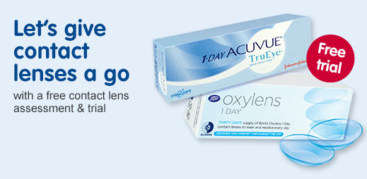 Let's give contact lenses a go with free contact lens assessment & trial