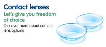 Contact lenses at Boots Opticians