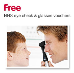 Free NHS eye check and glasses vouchers