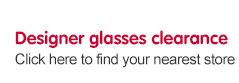 Designer glasses clearance