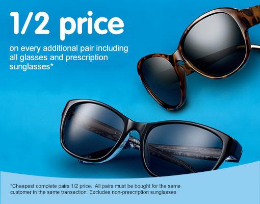 1/2 price additional pairs