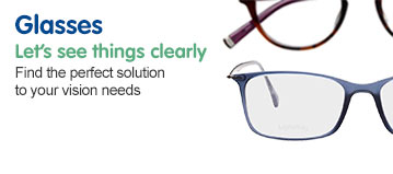 Browse our glasses range