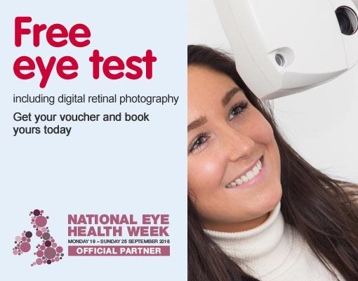 Free eye test - National eye health week