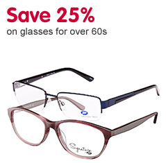 Over 60s save 25%
