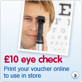 £10 Eye test at Boots Opticians. Click for your voucher.