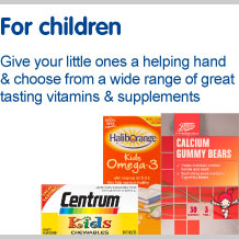 Vitamins and supplements for children. Give your little ones a helping hand and choose from a great selection of great tasting vitamins and supplements