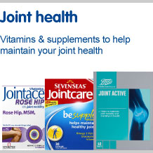 Joint health. Vitamins and supplements to help maintain your joint health