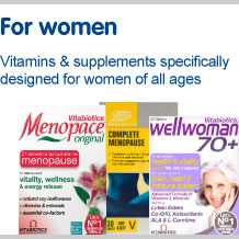 Vitamins and supplements specifically designed for women of all ages