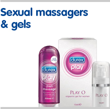 View our full range of sexual massagers and gels including durex play