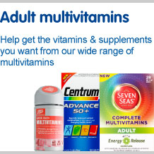 Adult multivitamins. Help you get the vitamins and supplements you want from our wide range of multivitamins