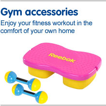 Gym accessories Enjoy your fitness workout in the comfort of your own home