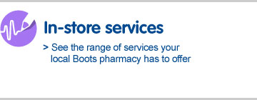 In-store services, see the range of services your local Boots pharmacy has to offer