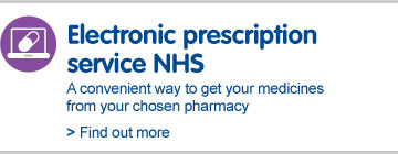 Electronic prescription service NHS. A convenient way to get your medicines from your chosen pharmacy
