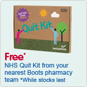 Free NHS Quit Kit from your nearest Boots pharmacy team
