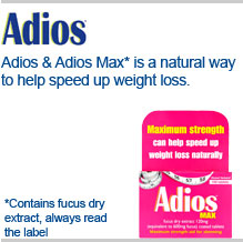 Adios and adios max is a natural way to help speed up weight loss