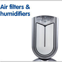 Air filters and humidifiers