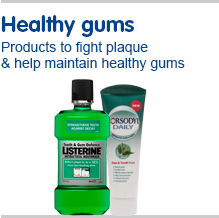 Healthy gums  Products to fight plaque and help maintain healthy gums