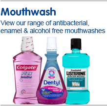 Mouth wash. Choose from our wide selection including antibacterial, enamel and alcohol free mouthwashes