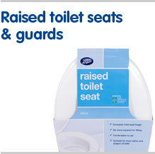 Raised toilet seats and guards