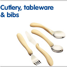 Cutlery tableware and bibs