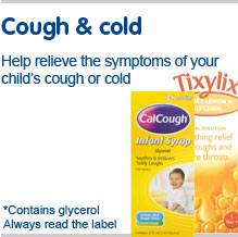 Cough & cold, help relieve the symptoms of your child's cough or cold