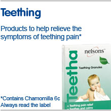 Teething, products to help relieve the symtoms of teething pain
