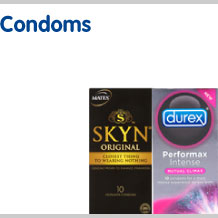 View our full selection of condoms