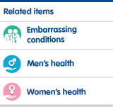 Embarrassing conditions, mens health, womens health